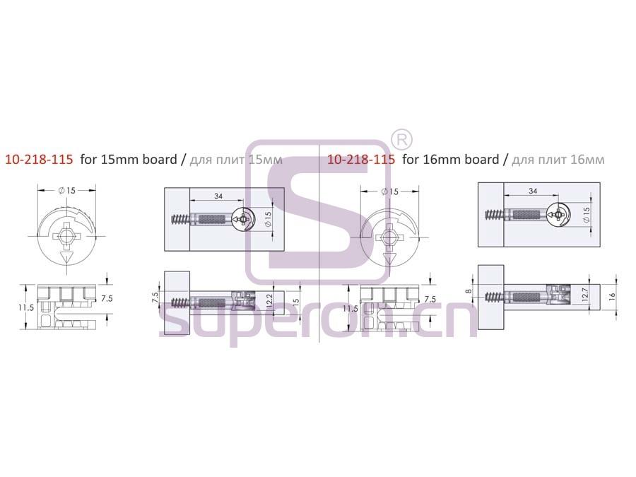 10-218-q | Eccentric cam, D15