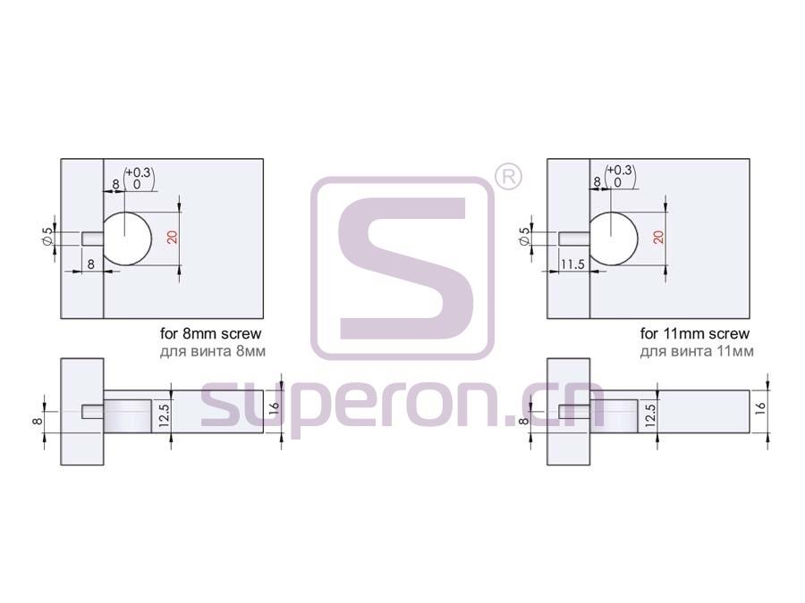 10-269-q | Eccentric shelf support