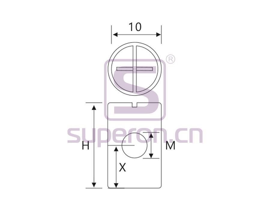 10-313-q | Barrel nut, cross, steel
