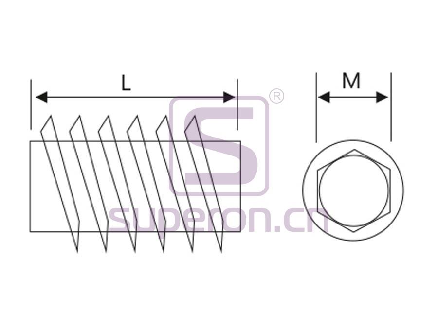 10-352-q | Socket (hex inside), steel