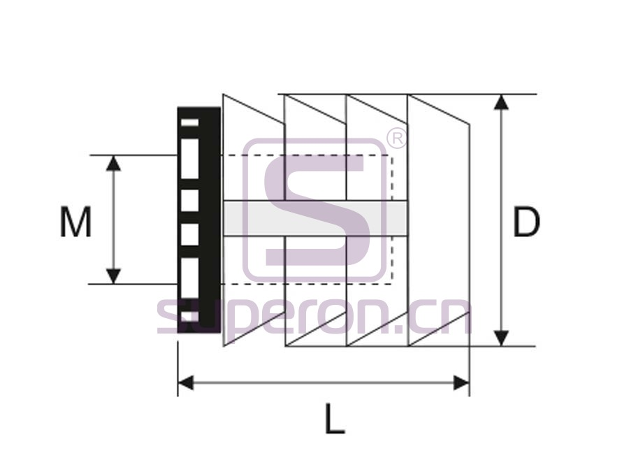 10-370-q | Plastic socket (blind-ended)