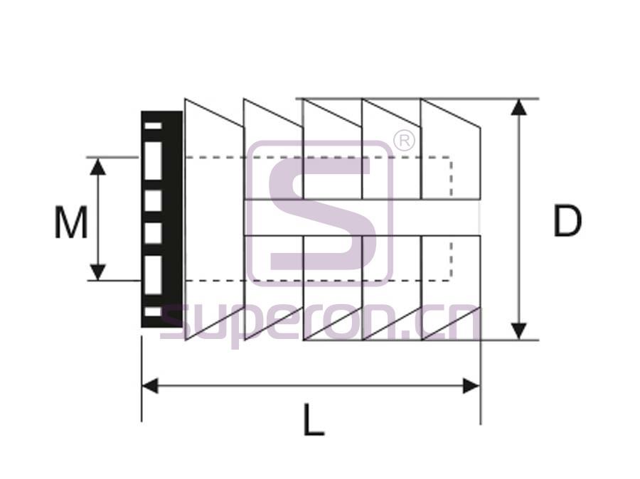 10-371-q | Plastic socket strip (open-ended)
