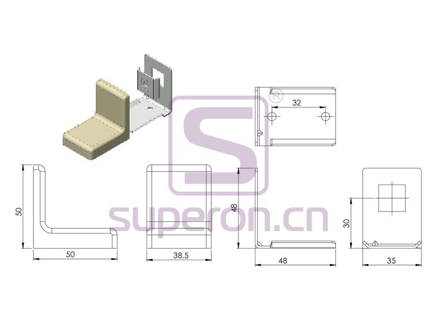 10-401-q | Corner with plastic cover
