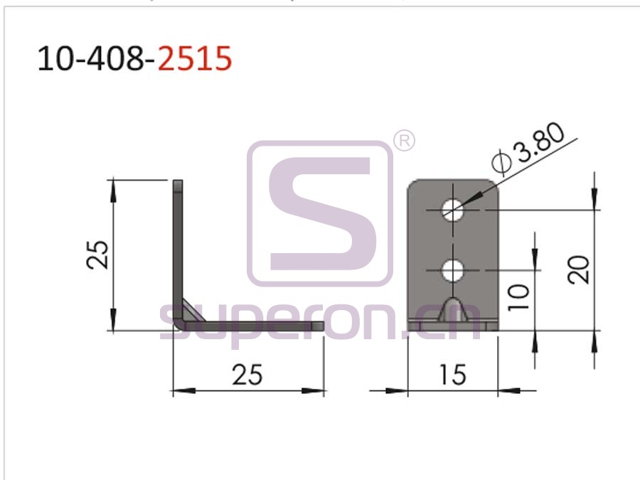 10-408-2515-q | Connecting corner