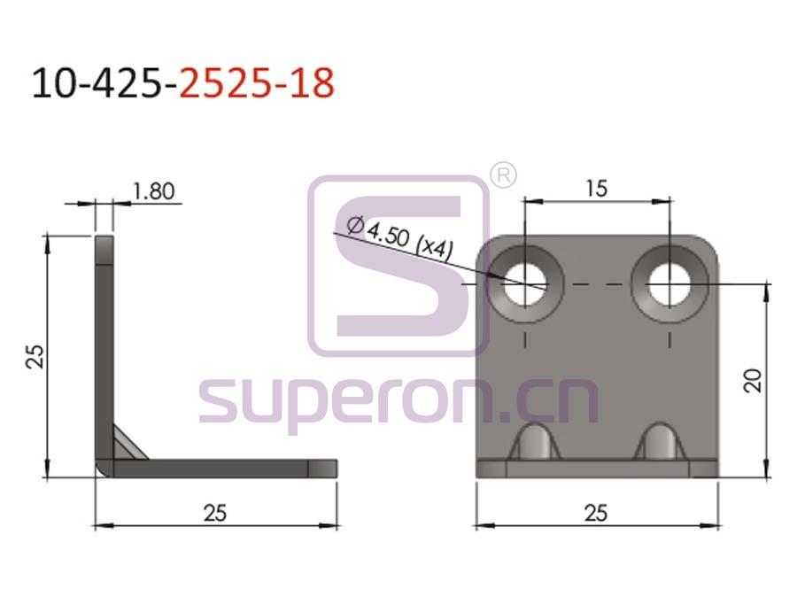 10-425-2525-18-q | Corner for furniture