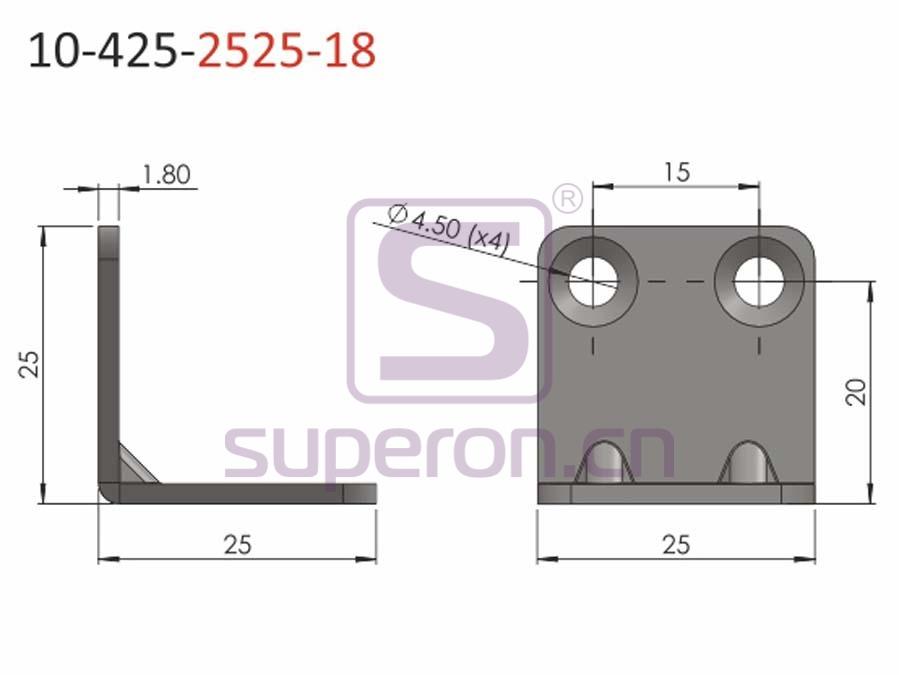 10-425-2525-18 | Corner for furniture