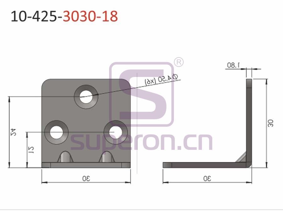 10-425-3030-18 | Corner for furniture