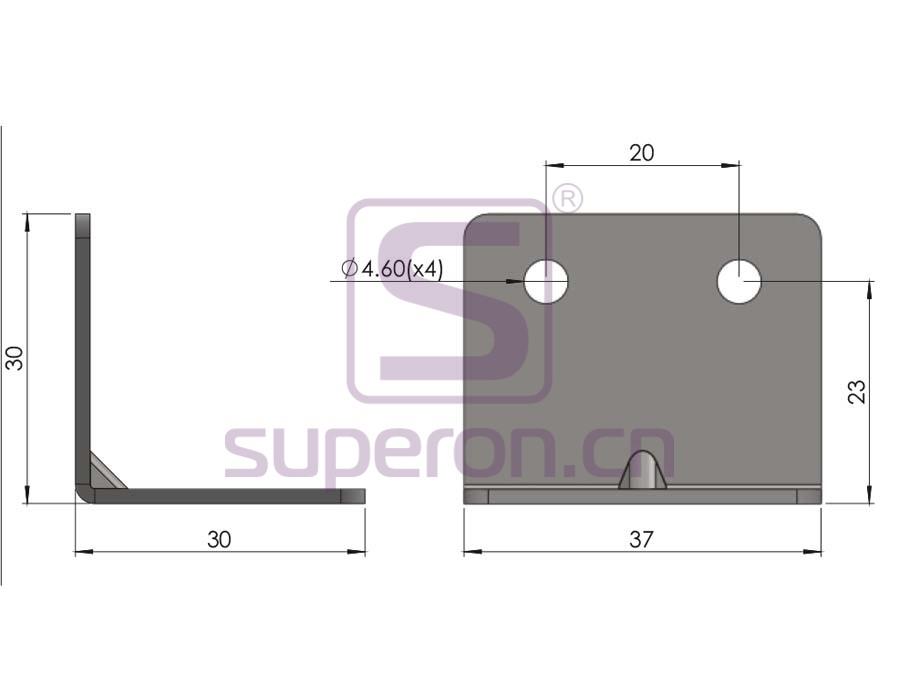 10-430-q | Corner for furniture
