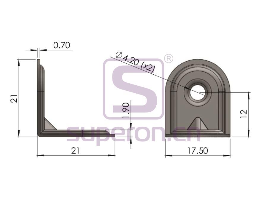 10-432-q | Corner for furniture