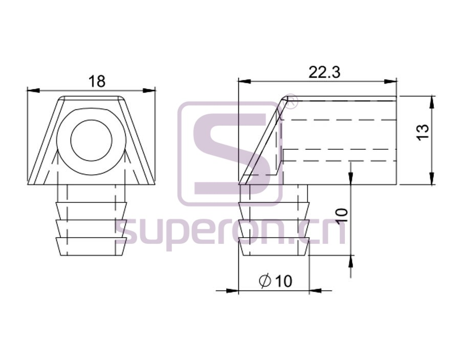 10-462-q | Mounting corner, plastic
