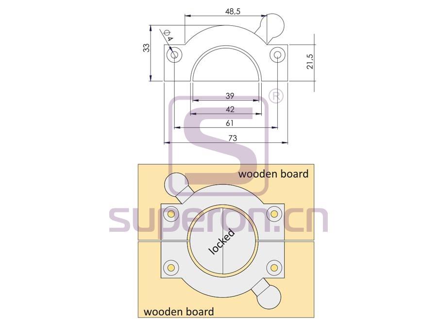 10-480-q | Plastic connector on corner
