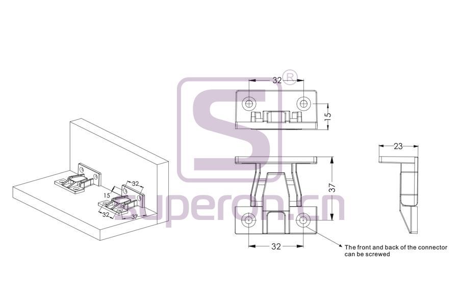 10-481-q | Plastic connector on corner