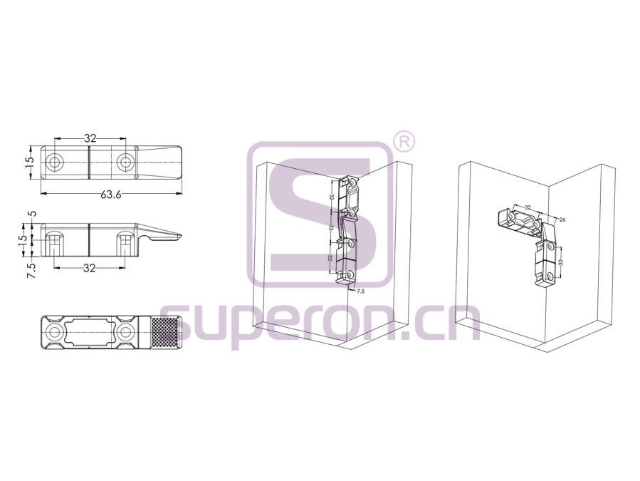 10-484-q | Plastic connector on corner