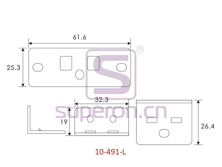 10-491-L-q   Kitchen cupboard' latch