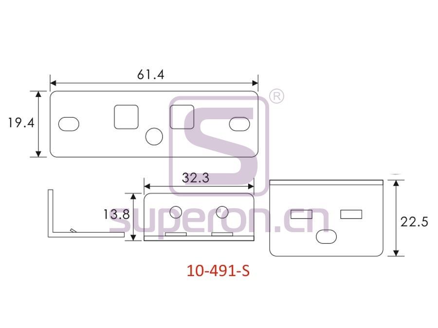 10-491-S-q   Kitchen cupboard' latch