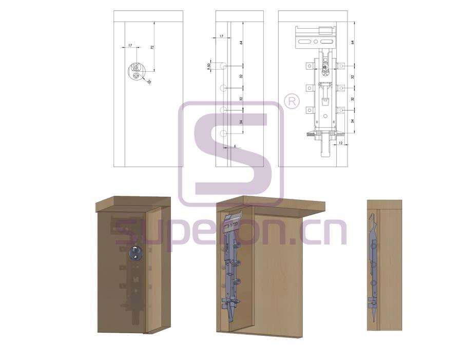 10-501-q | Cabinet hidden suspension bracket