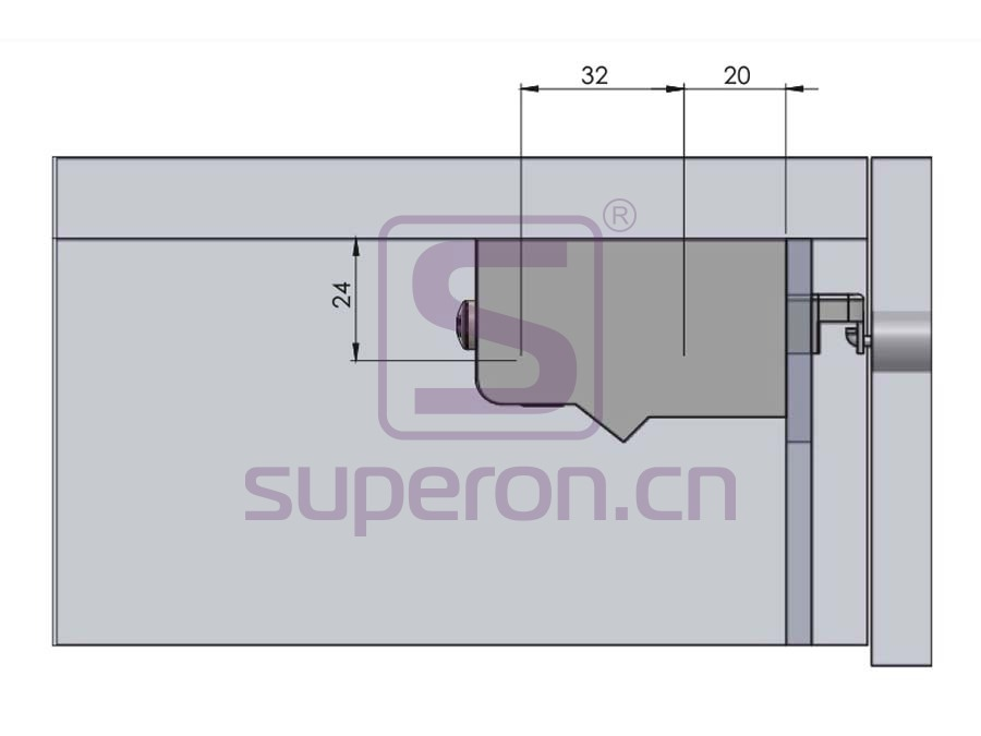 10-547-q   Adjustable cabinet hanger w/ dowel