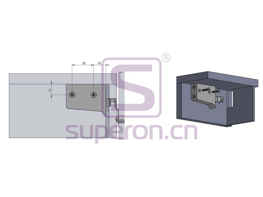 10-550-q | Adjustable cabinet hanger