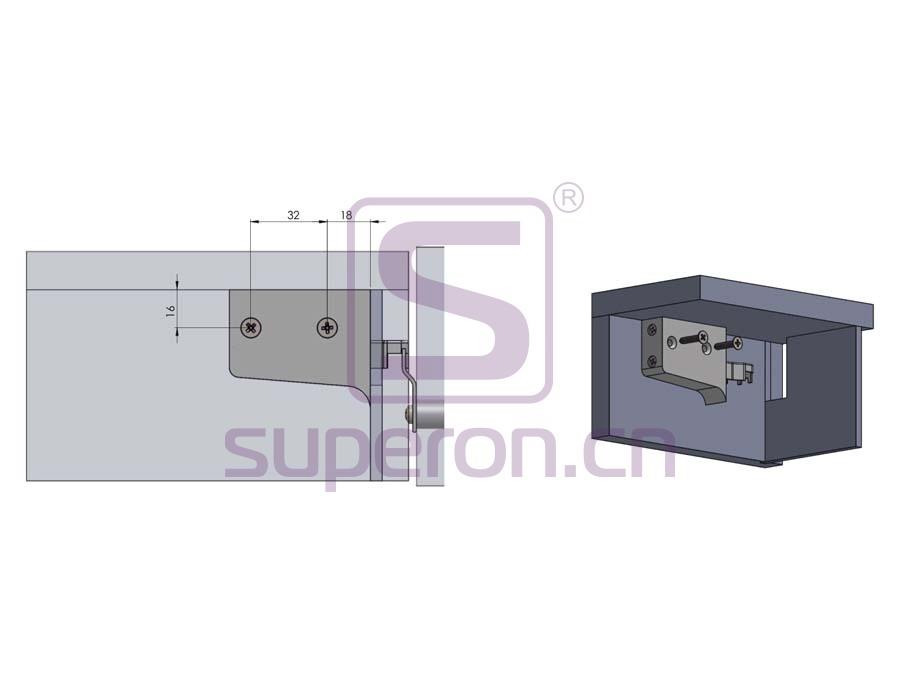 10-551-q | Adjustable cabinet hanger