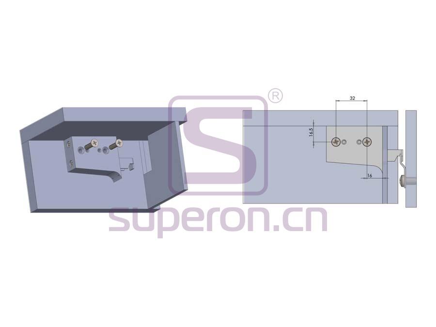 10-553-q | Adjustable cabinet hanger