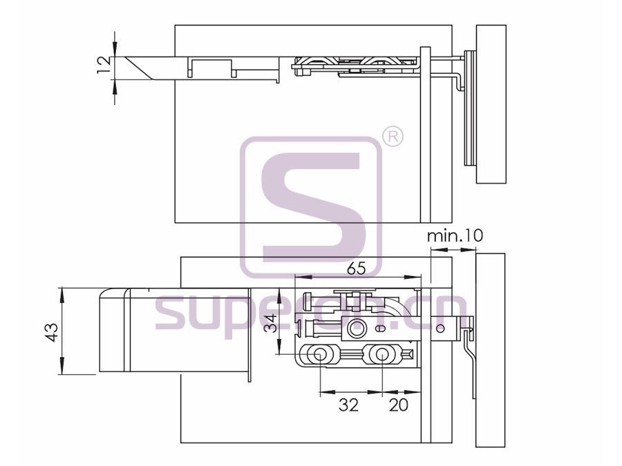 10-558-q | Adjustable cabinet hanger