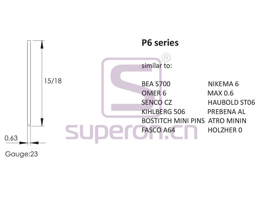 10-906-q | P6 series staples