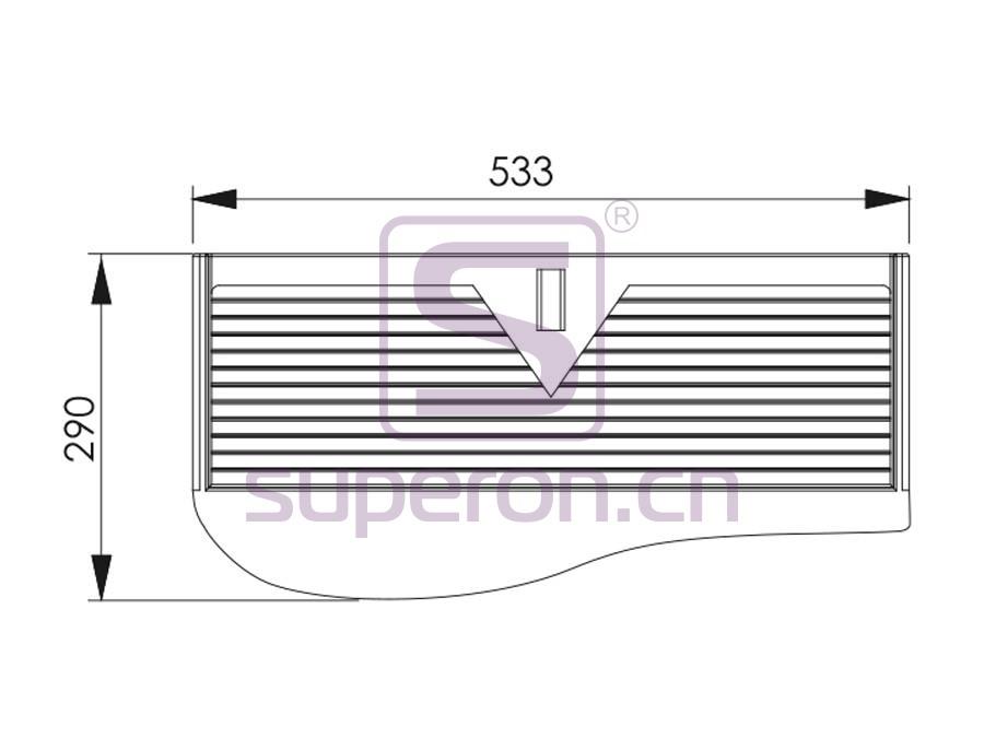 12-005-q | Keyboard support, steel