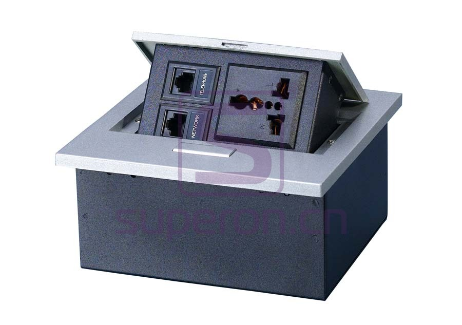 12-120-x2 | Hidden sockets block, table mount