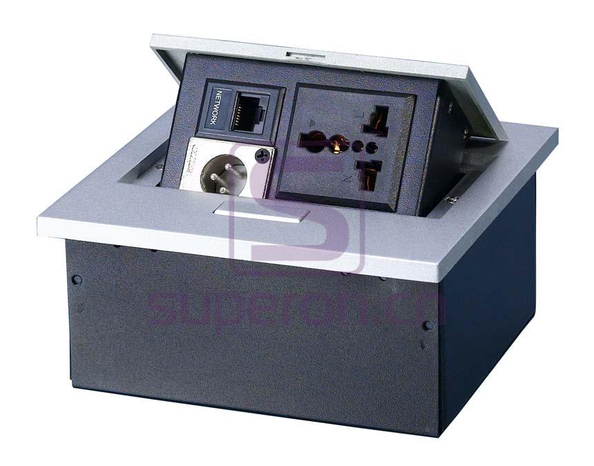 12-120-x4 | Hidden sockets block, table mount