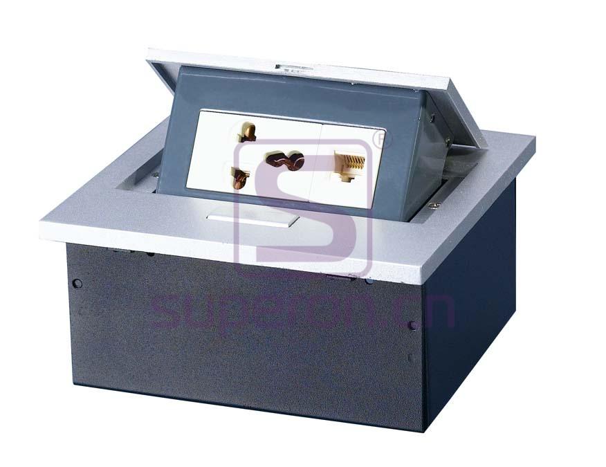 12-120-x5 | Hidden sockets block, table mount