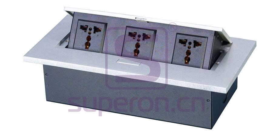 12-122-x2 | Hidden sockets block, table mount