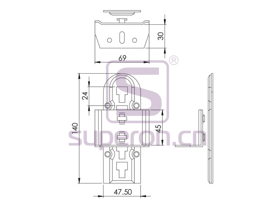 16-110-q   Connector for bed