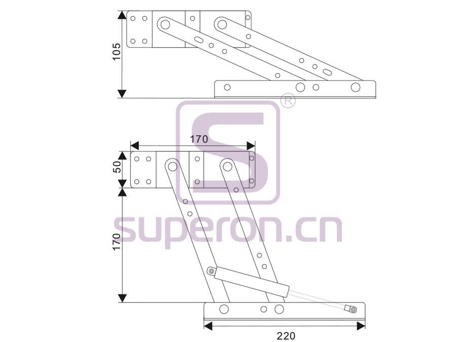 18-200-g-q | Fold table mechanism