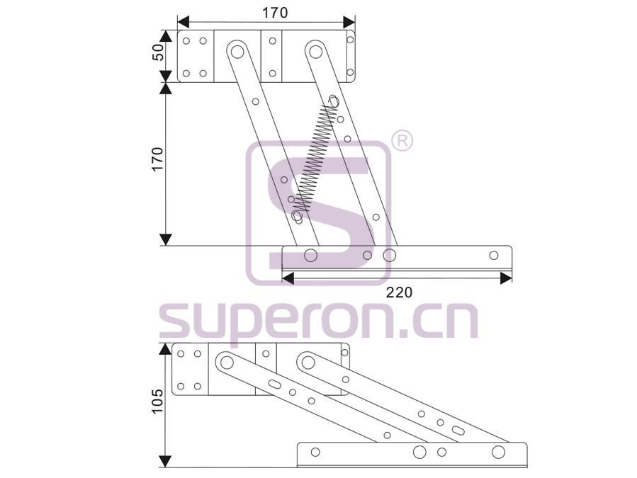 18-200-s-q | Fold table mechanism