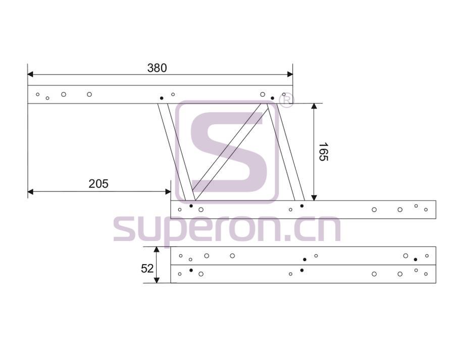 18-201-q | Folding table mechanism